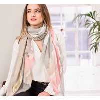 Personalised Soft Grey To Pink Water Colour Scarf