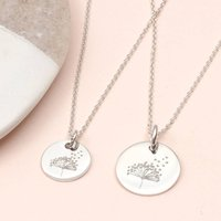 Personalised Silver Or 18ct Gold Dandelion Necklace, Silver