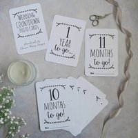 Classic Wedding Countdown Milestone Cards