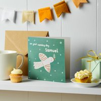 Personalised Naming Day Or Christening Card
