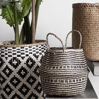 Danish Black To Buff Seagrass Basket