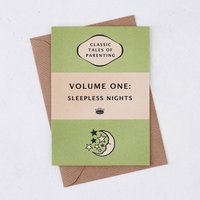 Book Cover 'Volume One: Sleepless Nights' New Baby Card