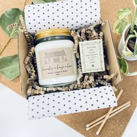 Love Makes A House A Home Personalised Candle Gift Set