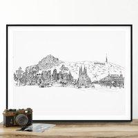 Personalised Your Skyline Illustration Print