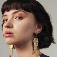Angel Wing Earrings In Silver Or Gold, Silver
