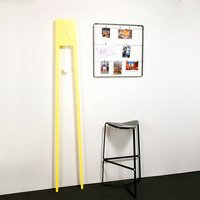Yellow Tall Pendulum Clock