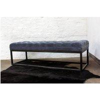 Hana Velvet Deep Buttoned Bench / Footstool