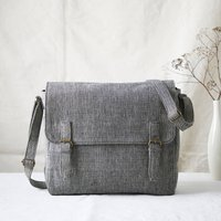 Fair Trade Unisex Vegan Cotton Satchel Shoulder Bag