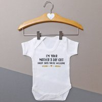 Personalised Im Your Mothers Day Gift Baby Vest