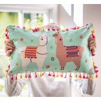 Personalised Tassled Llama Cushion