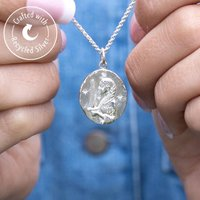 Personalised Silver Or Gold Virgo Zodiac Necklace, Silver