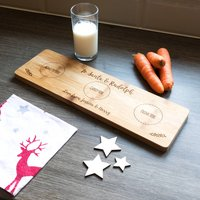 Personalised To Santa And Rudolph Christmas Eve Plate