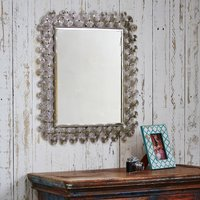 Zanie Silver Rectangular Handmade Mirror