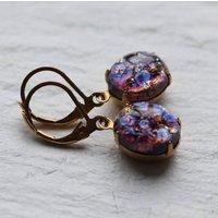 Amethyst Peacock Jewel Earrings