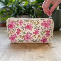 Cotton Lilies Makeup And Cosmetic Bag