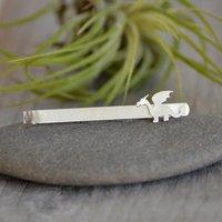 Small Dragon Tie Clip In Sterling Silver