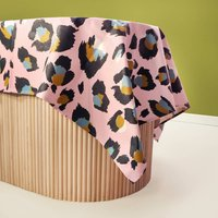 Pink Leopard Oilcloth Tablecloth