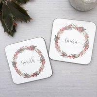 Personalised Christmas Coasters
