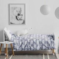 Polar Bear Print Children's Bedding Set, Grey/Pink