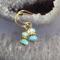 Opal Bead Earrings