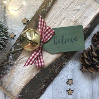 Personalised Believe Jingle Bell Hanging Decoration