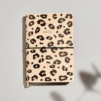 Personalised Leopard Print Refillable Journal A6