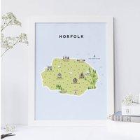 Map Of Norfolk Print