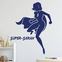 Super Hero Girls Room Wall Sticker