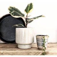 Neutral Stoneware Plant Pot