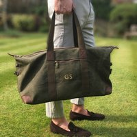 Personalised Waxed Holdall Bag