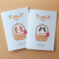 Cat Or Dog Christmas Delivery Card