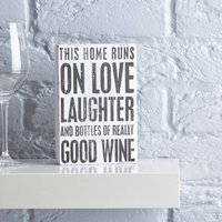 Home Wine Sign