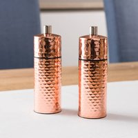 Hammered Copper Salt And Pepper