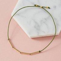 Adjustable Friendship Bracelet With 18ct Gold Vermeil, Gold