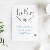 Will You Be My Godparent Christening Card
