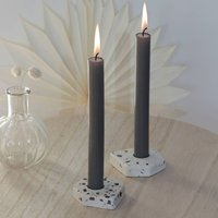 Flecked Terrazzo Candle Stick Holder