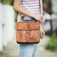 Leather Day Bag, Gold