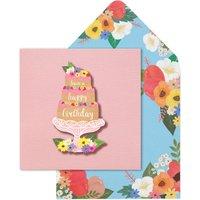 Handmade Happy Birthday Cake Card