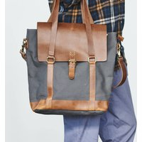 Canvas And Leather Holdall Bag