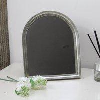 Grey Arched Mirror