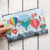 Bristol Balloons Lined Cotton Cosmetics Or Pencil Bag