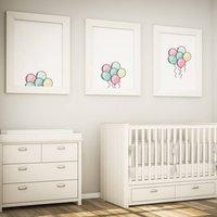 Floating Balloon Nursery Three Piece Print