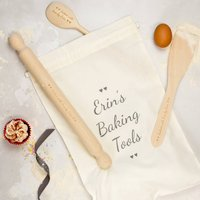 Personalised Baking Set, White/Grey/Black