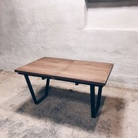 X Extendable Solid Oak Dining Table U Shaped Legs