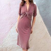 Velvet Tea Dress In Sweet Pea Silk