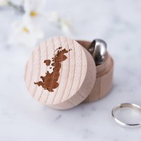 Personalised Map Ring Box