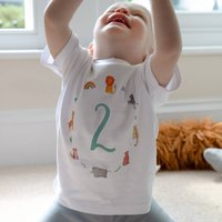 Age Two Children's Birthday T Shirt