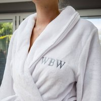 Personalised Supersoft Fleece Dressing Gown, Black/Gold/Yellow