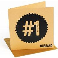 Number One Husband Valentines Card