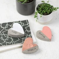 Personalised Colour Block Heart